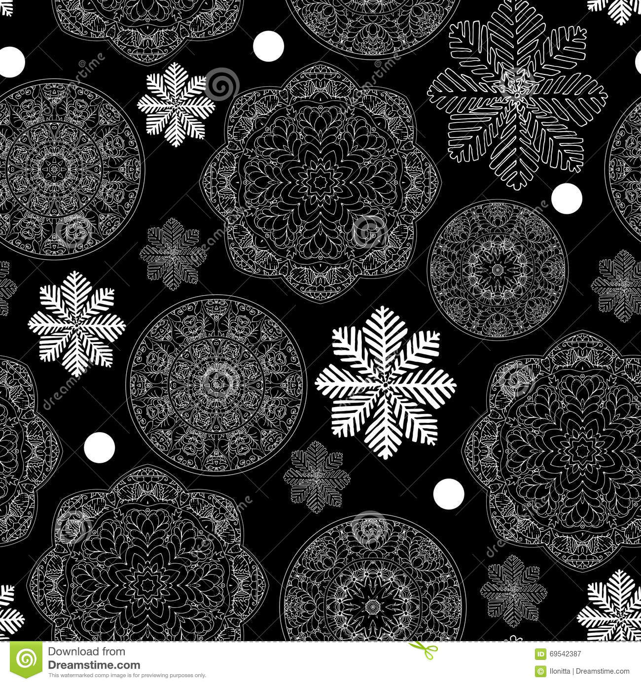 Rustic Winter Seamless Pattern For Scrapbook Paper Design For Merry