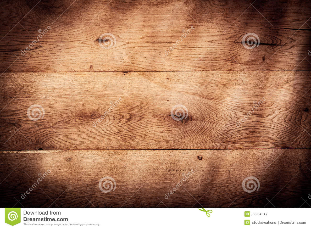 rustic wood background texture with vignette stock image