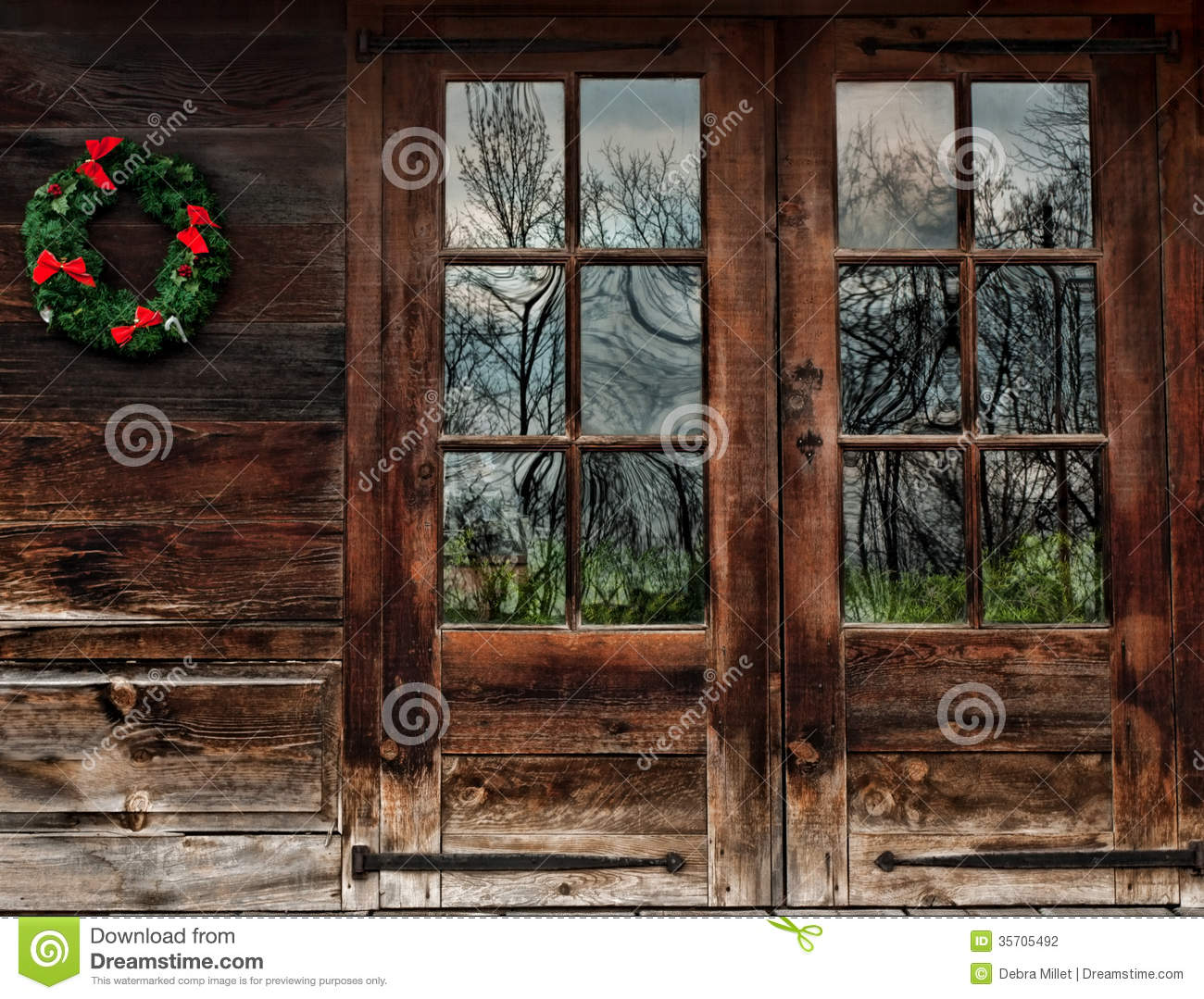 Rustic Wood Doors Stock Photo Image Of Nature Idyllic