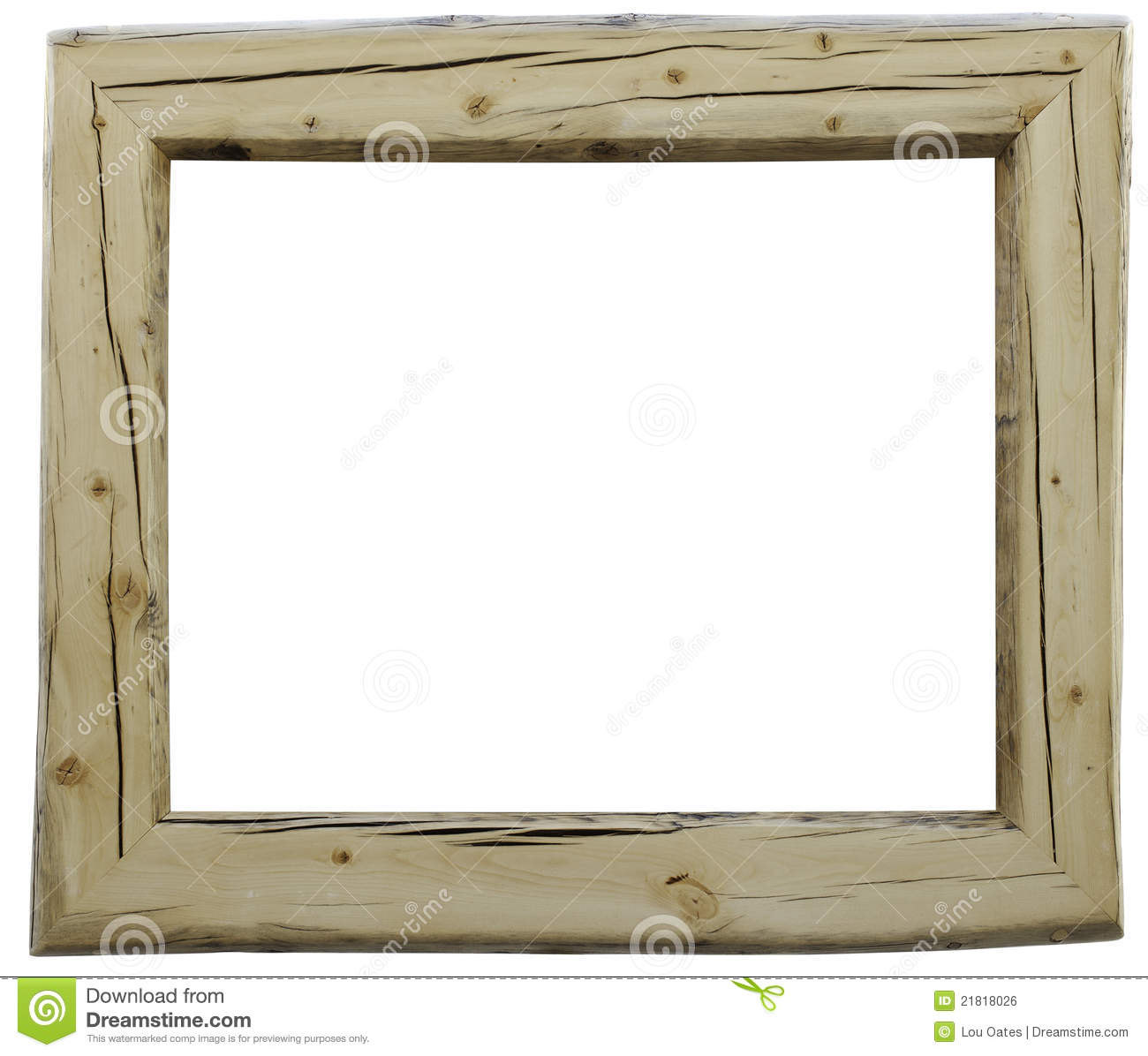 Rustic Hand Made Wood Frame With Slightly Irregular Outer Edges.
