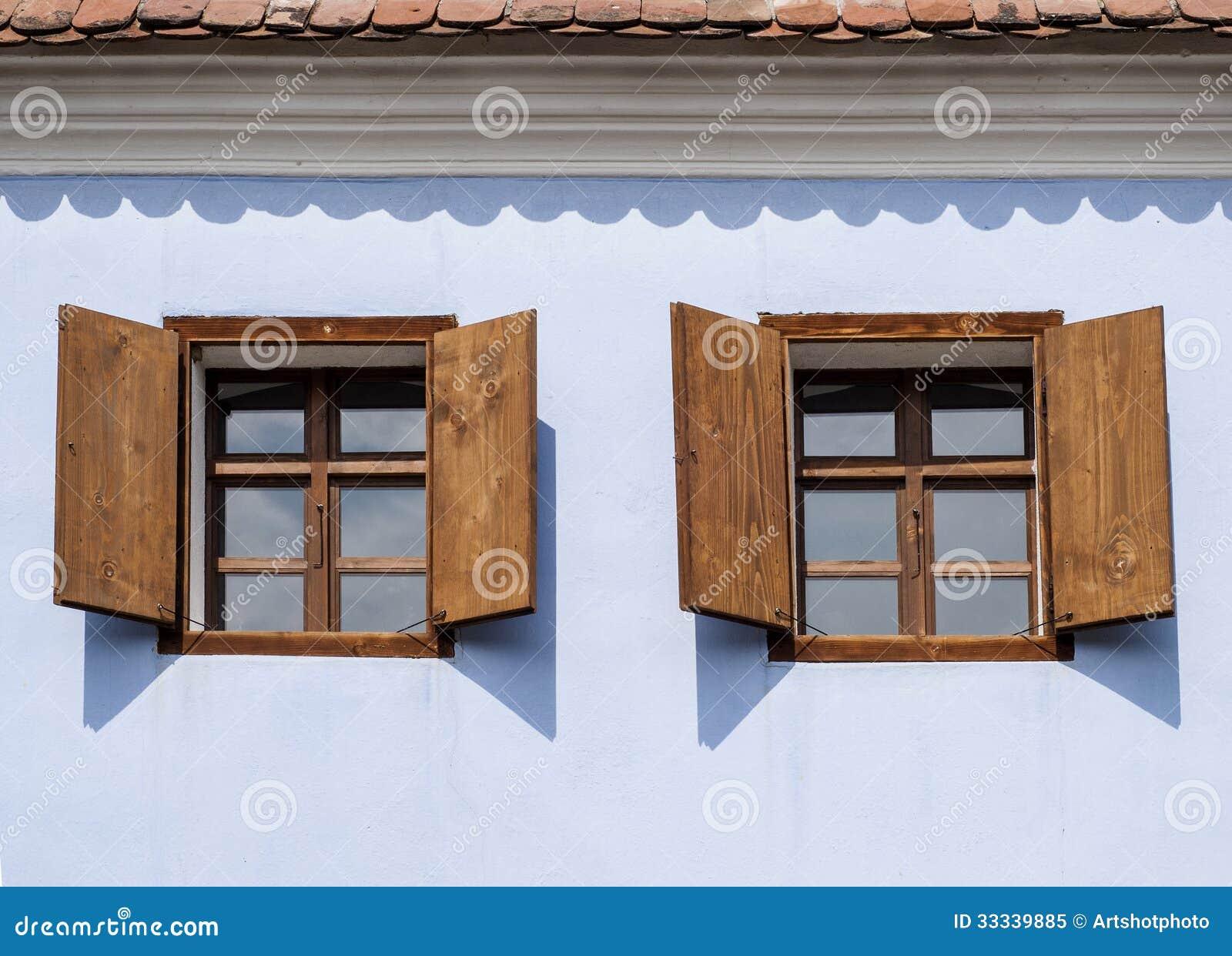 Rustic Wood Windows Royalty Free Stock Photo - Image: 33339885