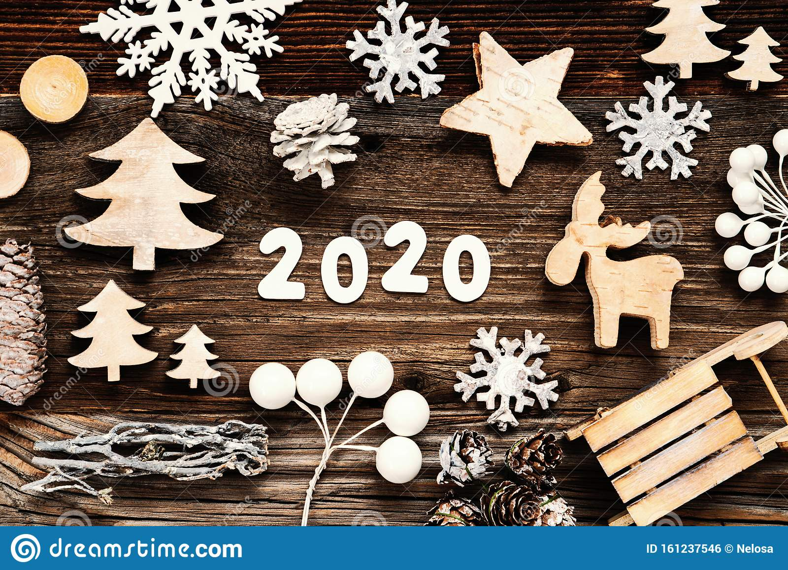 Rustic Wooden Christmas Decoration 2020 Seld And Tree Stock Photo Image Of Wooden Winter 161237546