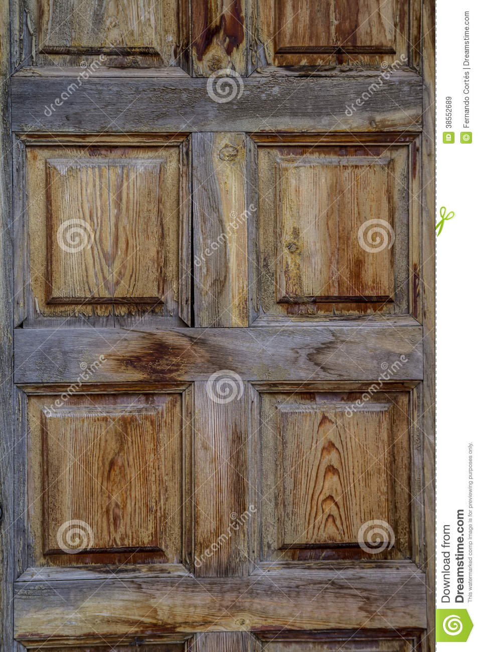 Rustic wooden door spanish style stock image image for Porte spanish