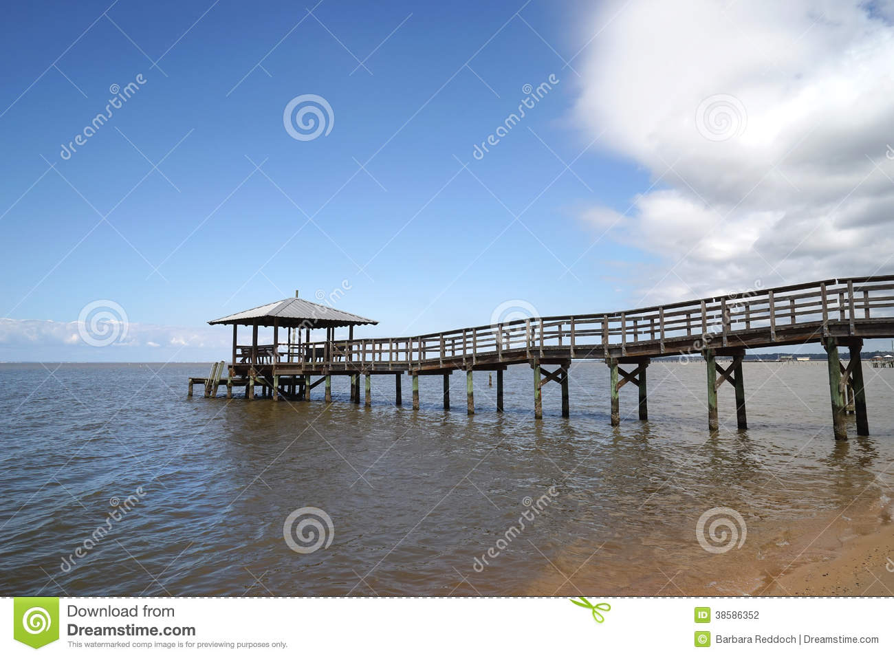 Rustic Wooden Fishing and Swimming Pier