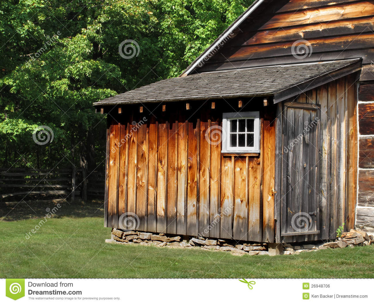 Rustic Wooden Shed Royalty Free Stock Image Image 26948706