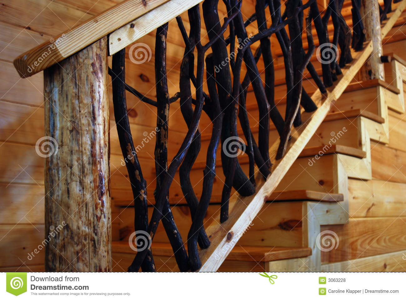 Royalty Free Stock Photo. Download Rustic Wooden Staircase ...
