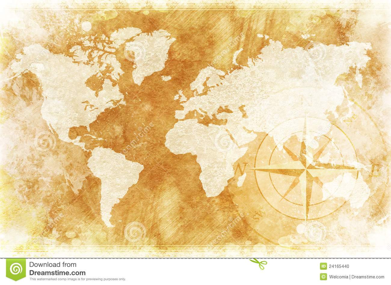 Rustic World Map Stock Photo Image - Old us map background