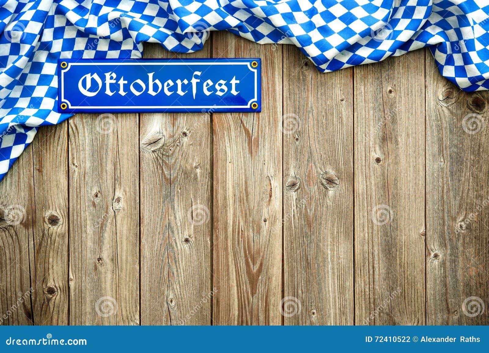 Rustieke achtergrond voor Oktoberfest
