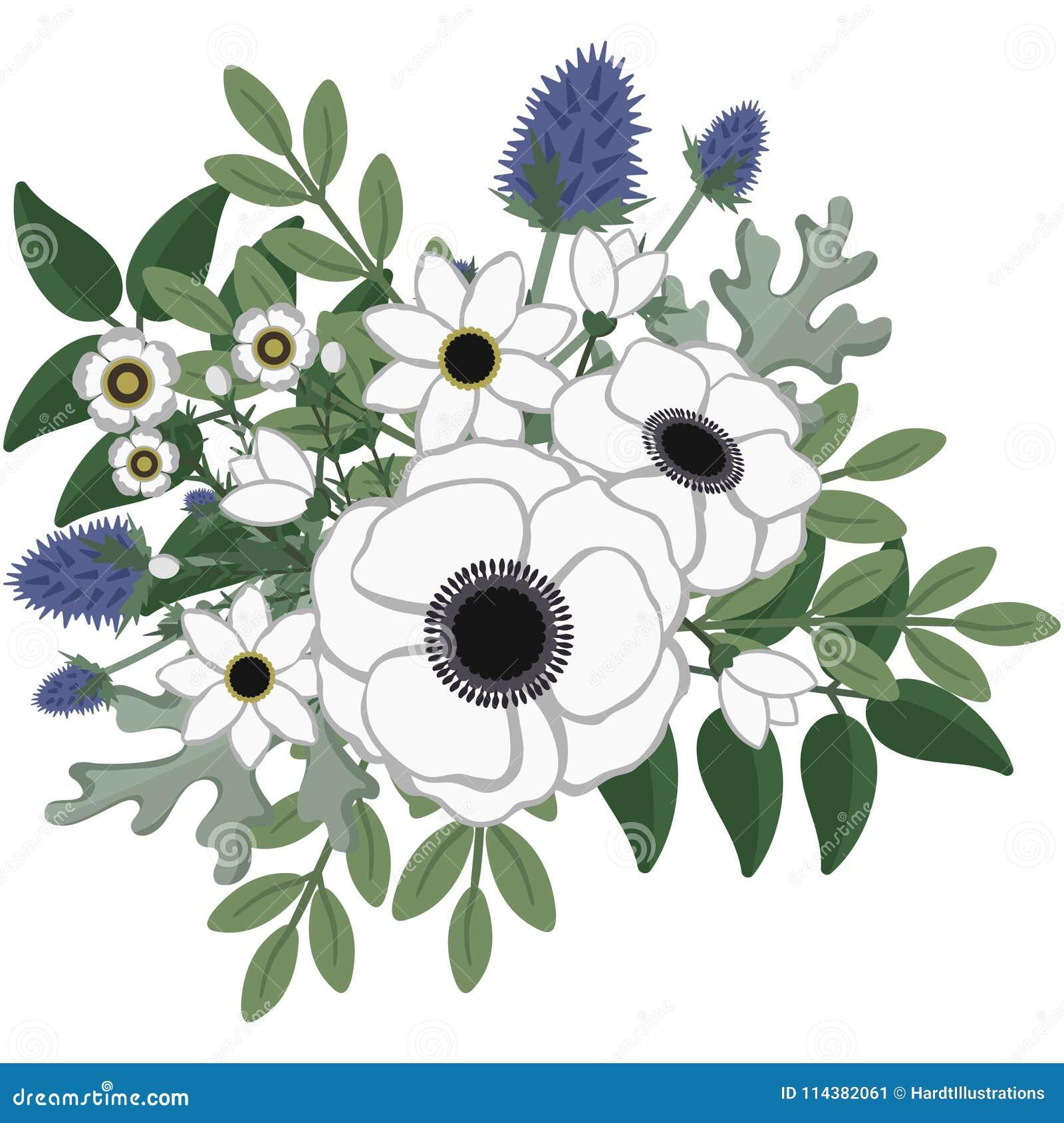 Rustieke Anemone Floral Arrangement