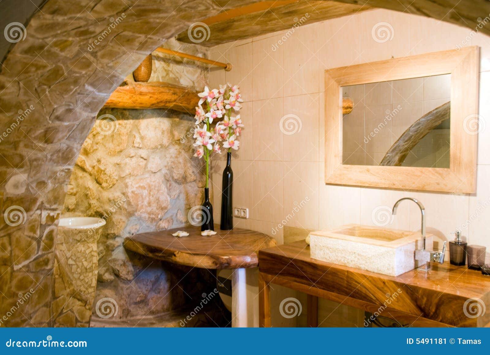Rustieke badkamers in goud stock afbeelding afbeelding bestaande uit steen 5491181 - Badkamers ...
