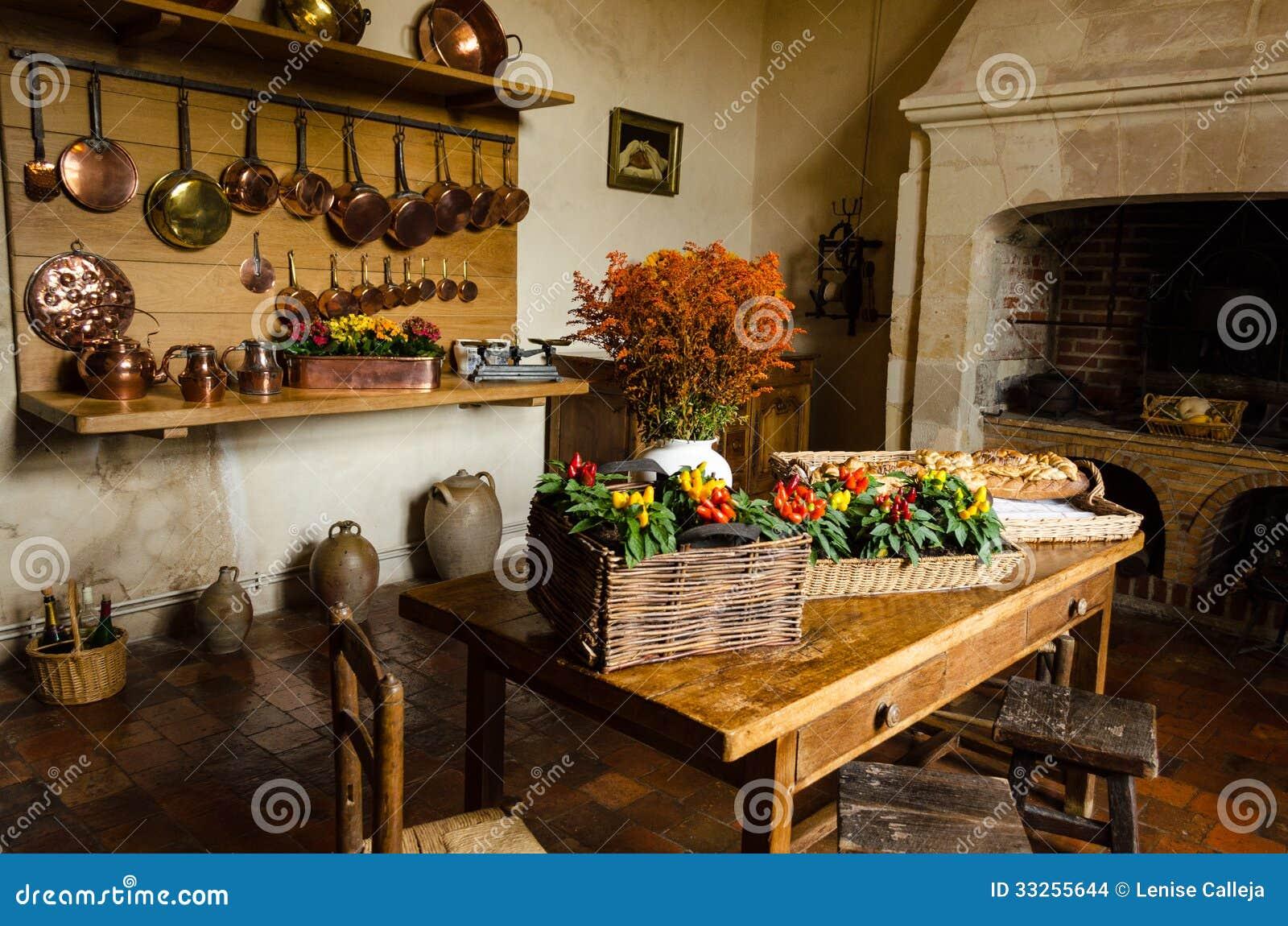 Keuken Van Kasteel Royalty-vrije Stock Fotografie - Afbeelding ...