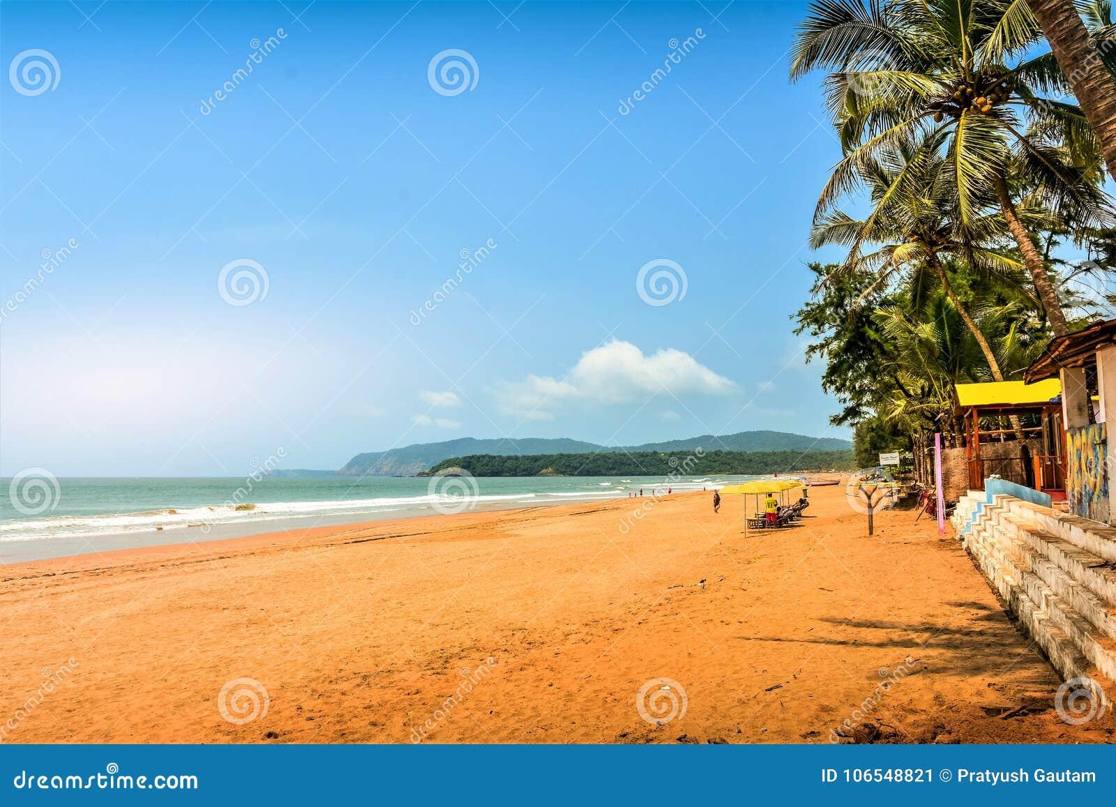 Rustig strand van Zuiden Goa, Agonda
