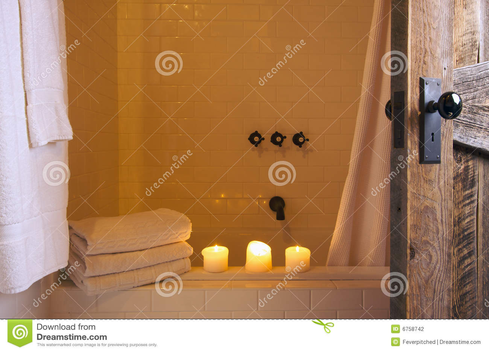 Rustikale badezimmer szene stockfotografie bild 6758742 - Rustikale badezimmer ...