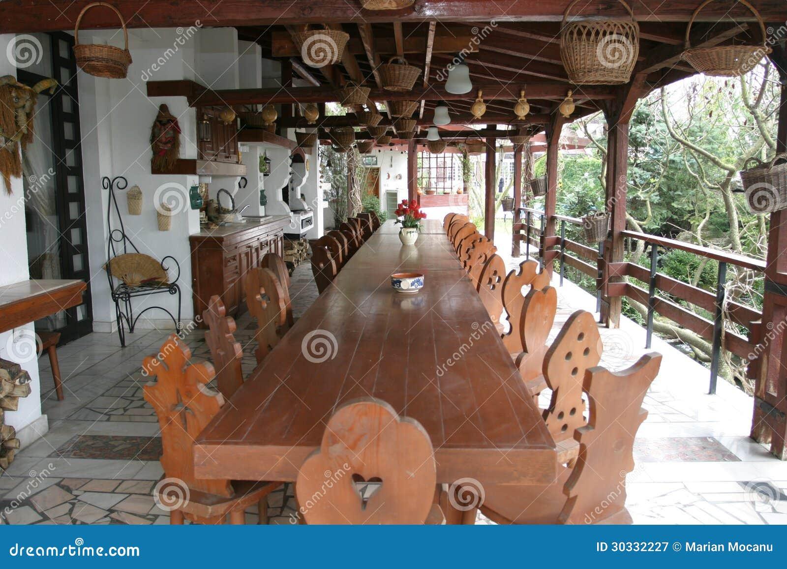 Rustikale Terrasse Stockbild Bild Von Hotel Leer Luxus 30332227