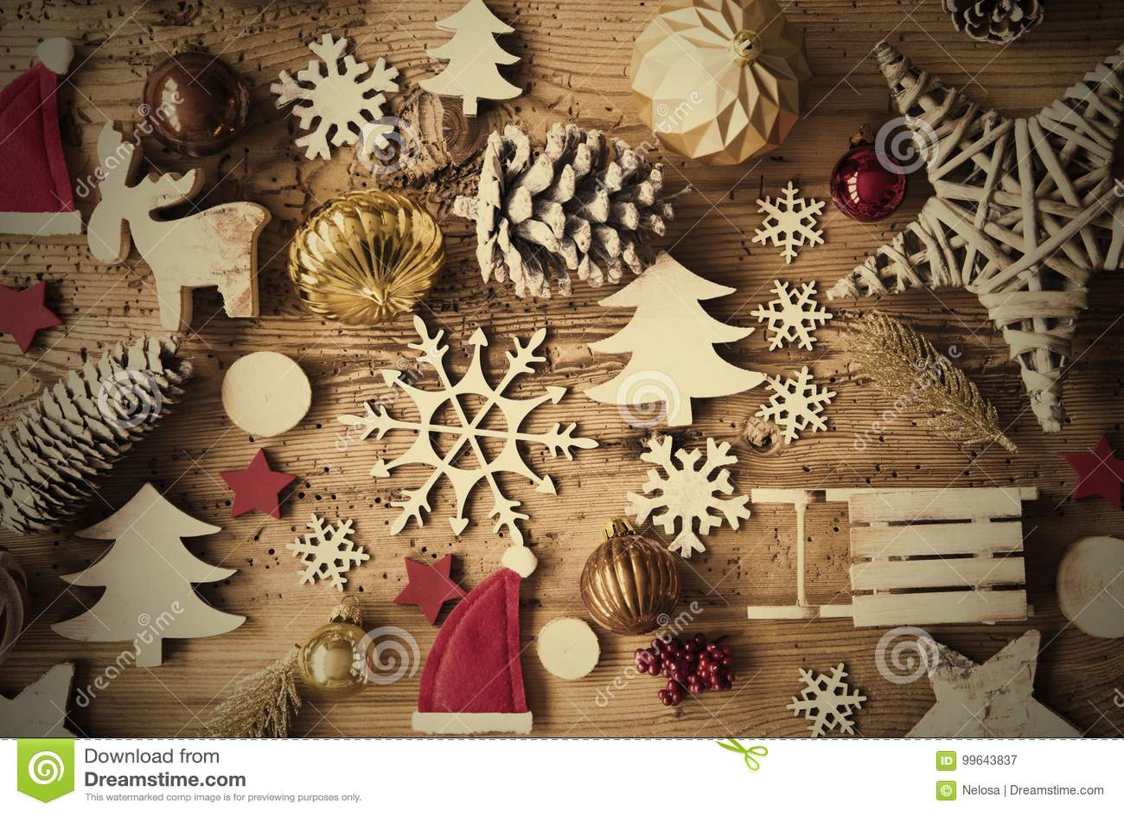 Rustikale Weihnachtsebenen-Lage, Instagram-Filter, Rahmen Stockbild ...