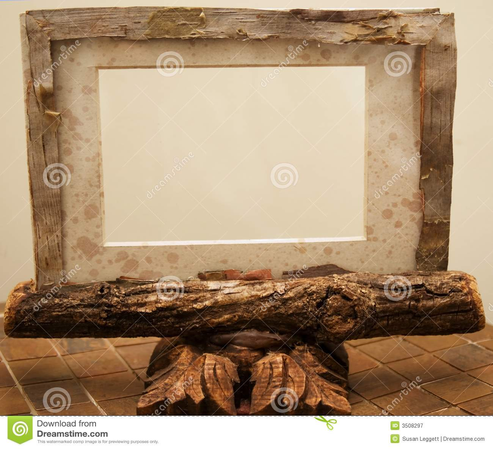 Rustikaler Bilderrahmen stockbild. Bild von horizontal - 6797703