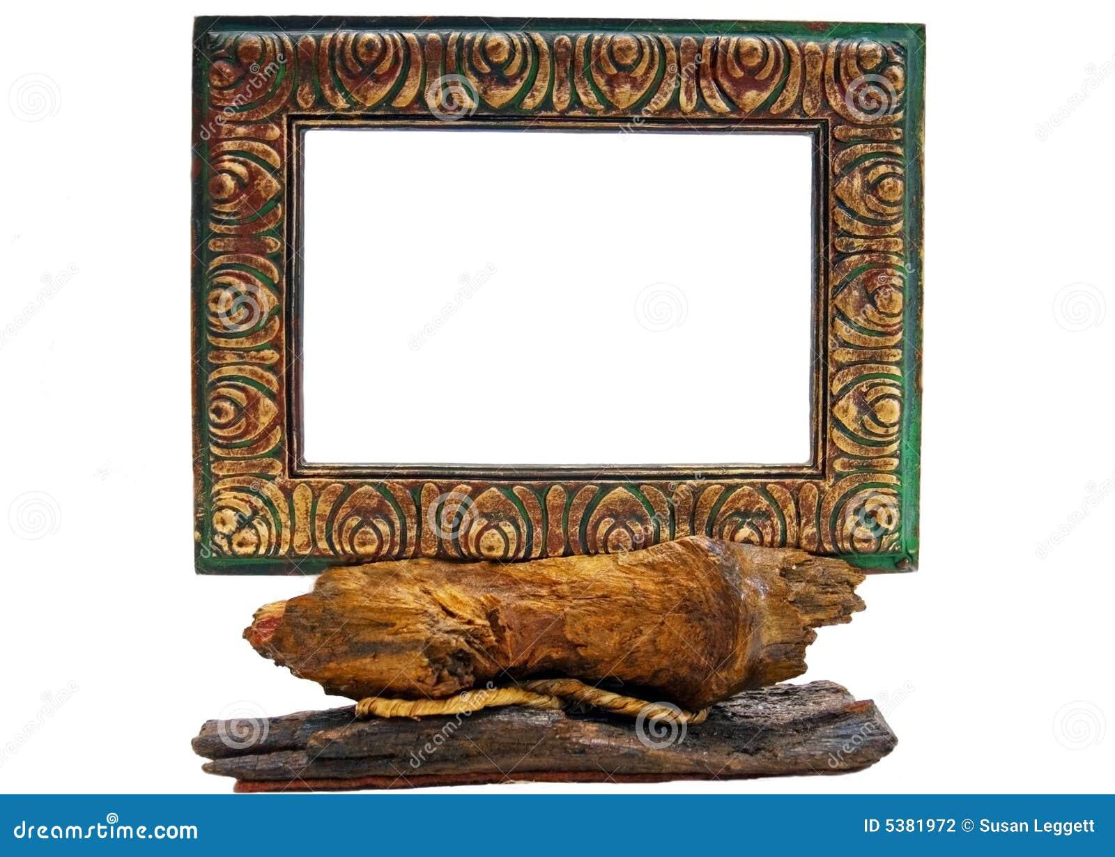 Rustikaler Bilderrahmen stockfoto. Bild von museum, dekoration - 5381972