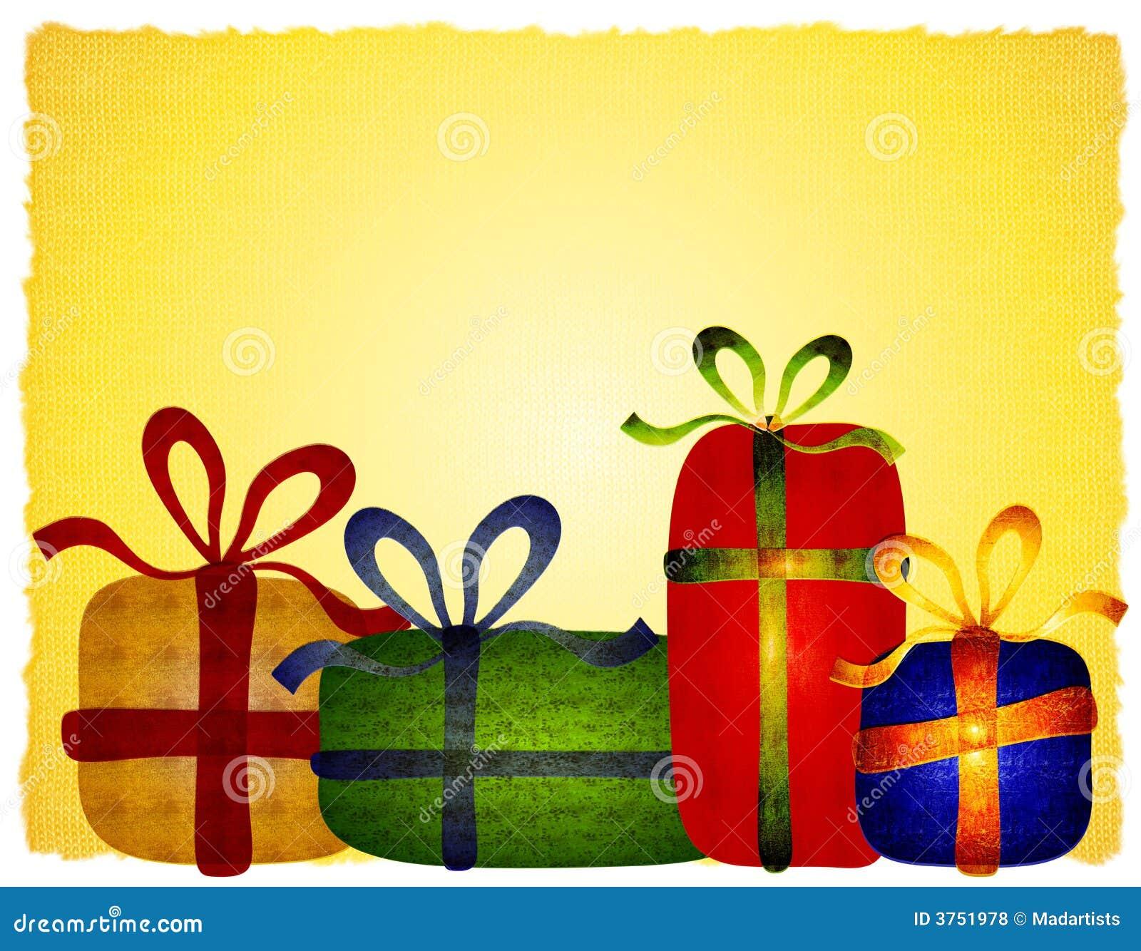 Rustikaler Geselliger Weihnachtsgeschenk-Hintergrund Stock Abbildung ...