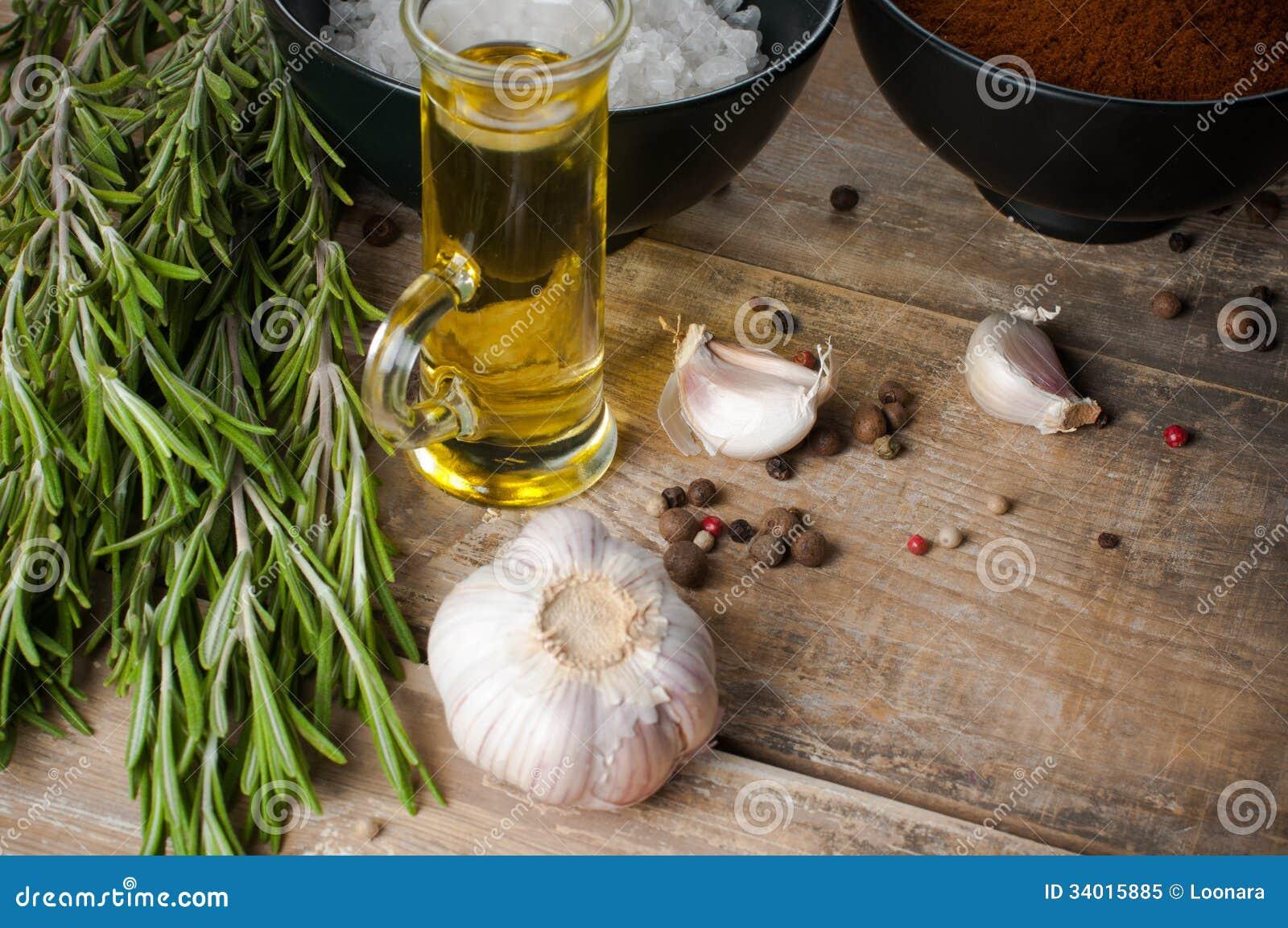Rustikaler Küchenhintergrund Stockbild - Bild von kochen ...