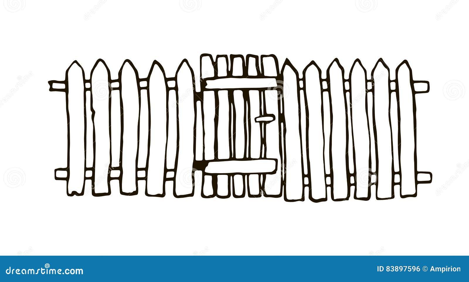 Rustikaler Zaun hergestellt vom Holz