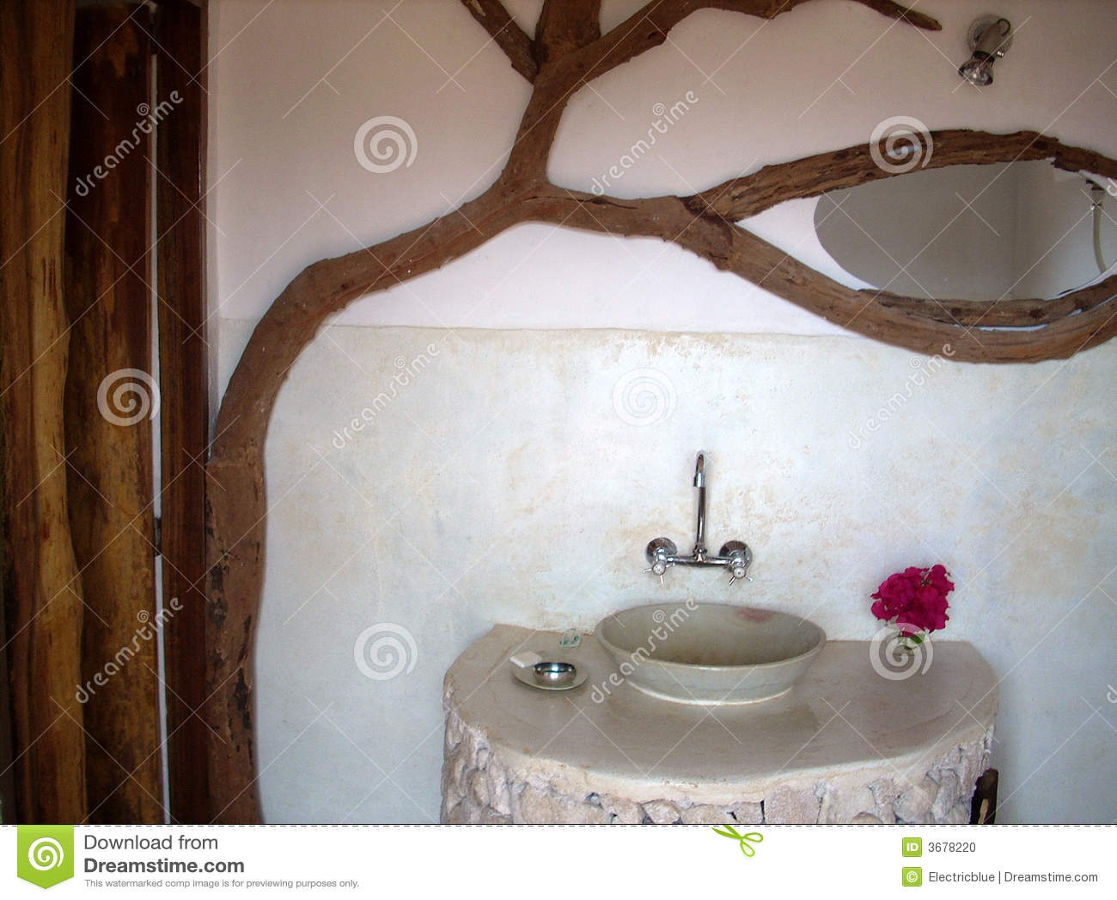 rustikales badezimmer stockfoto bild 3678220. Black Bedroom Furniture Sets. Home Design Ideas