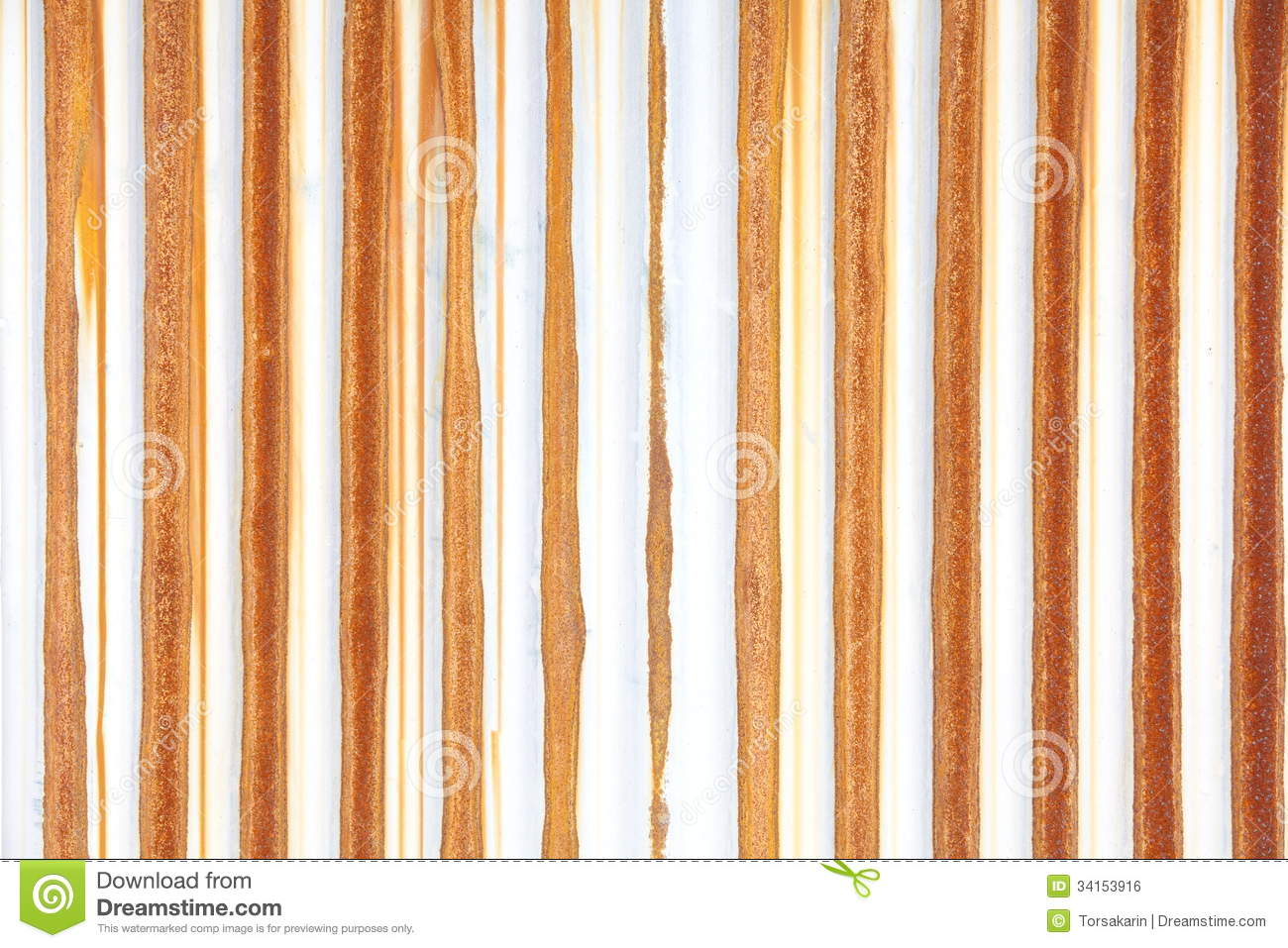Rusting Metal Fencing Or Siding Royalty Free Stock Image