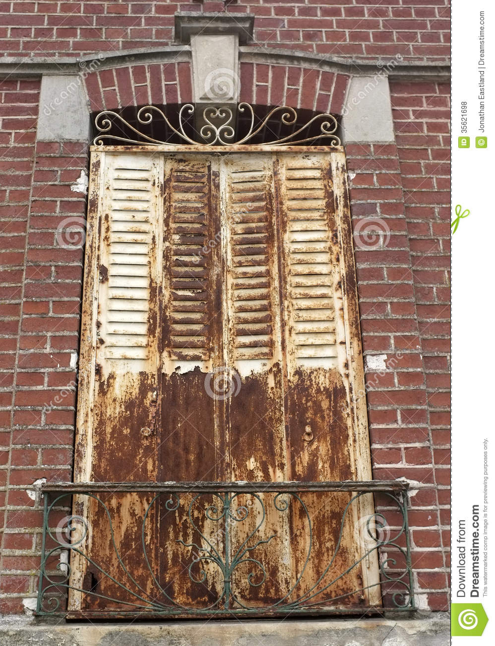 Rusting Metal Window Shutters Stock Photo Image Of
