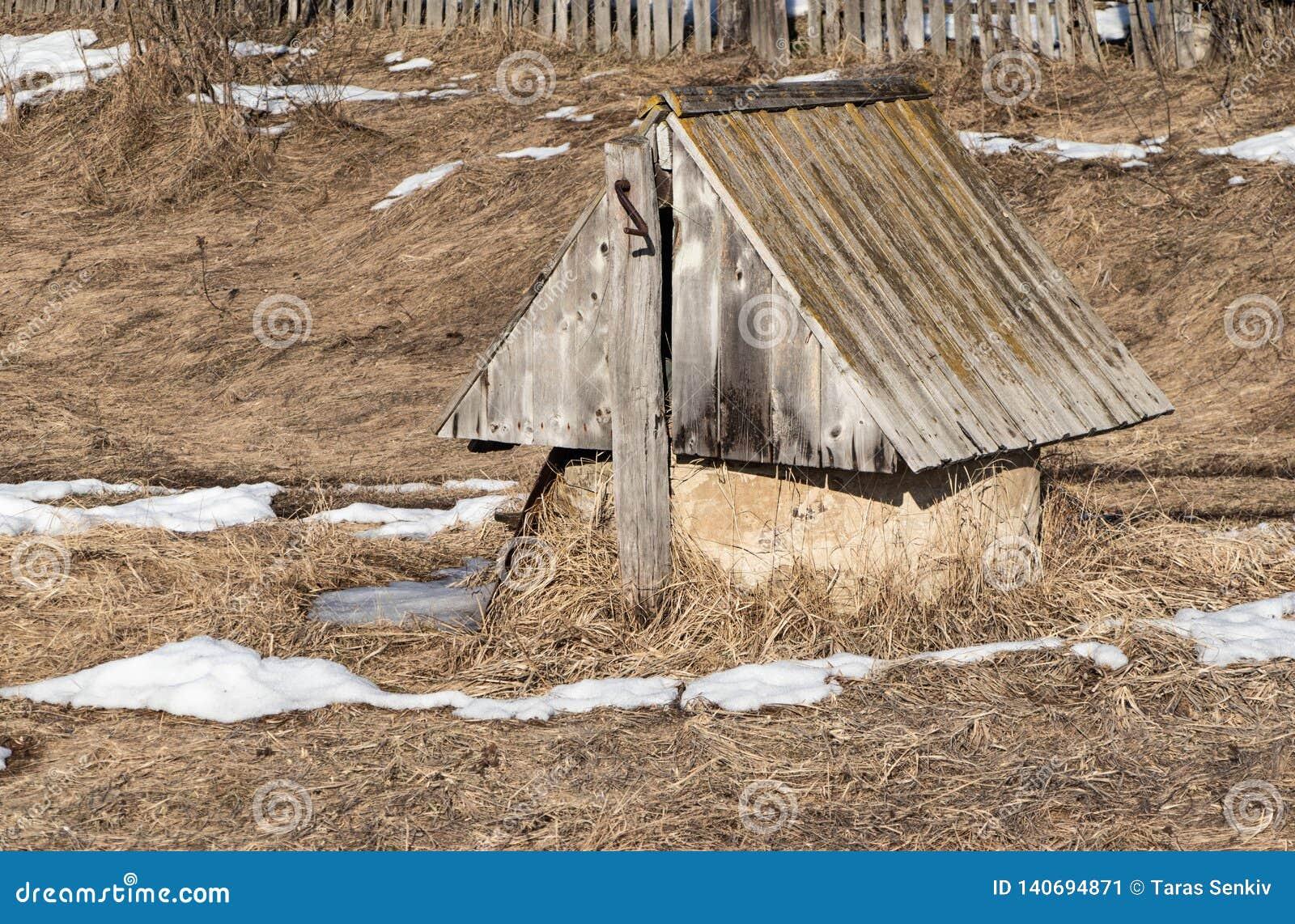 Rustique de puits d eau vieux