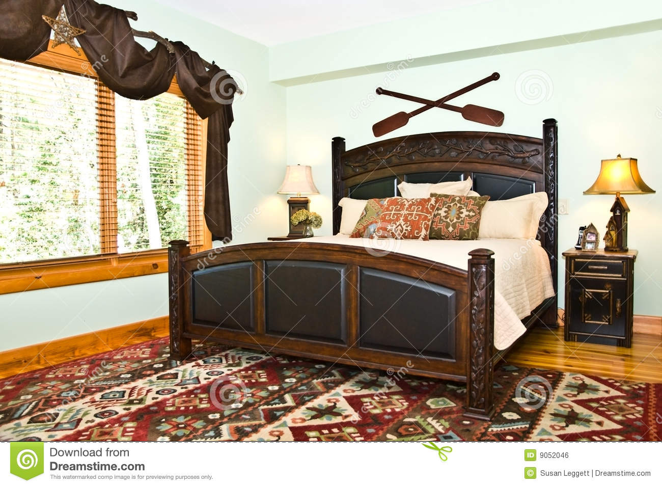 Rustique Moderne De Decor De Chambre A Coucher Photo Stock Image