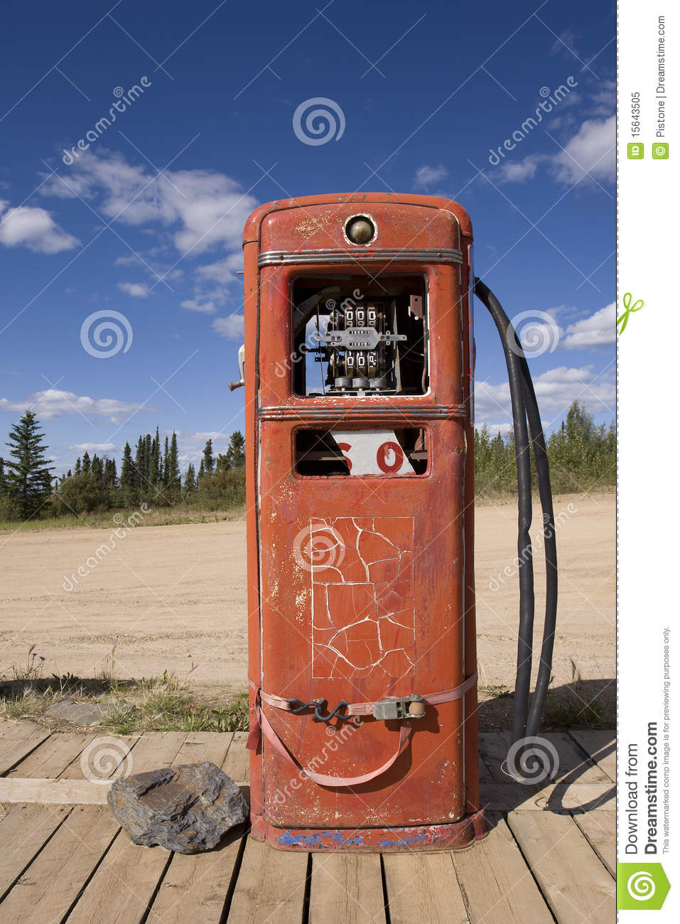 Rusty Abandoned Gas Pump Boundary Royalty Free Stock