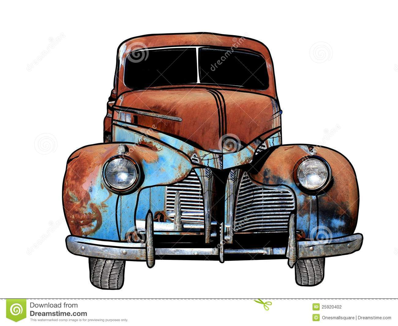 Rusty Antique Car Stock Photography - Image 25920402