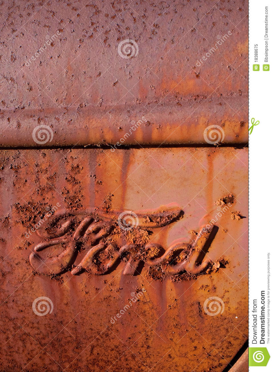 Rusty Antique Ford Truck Logo