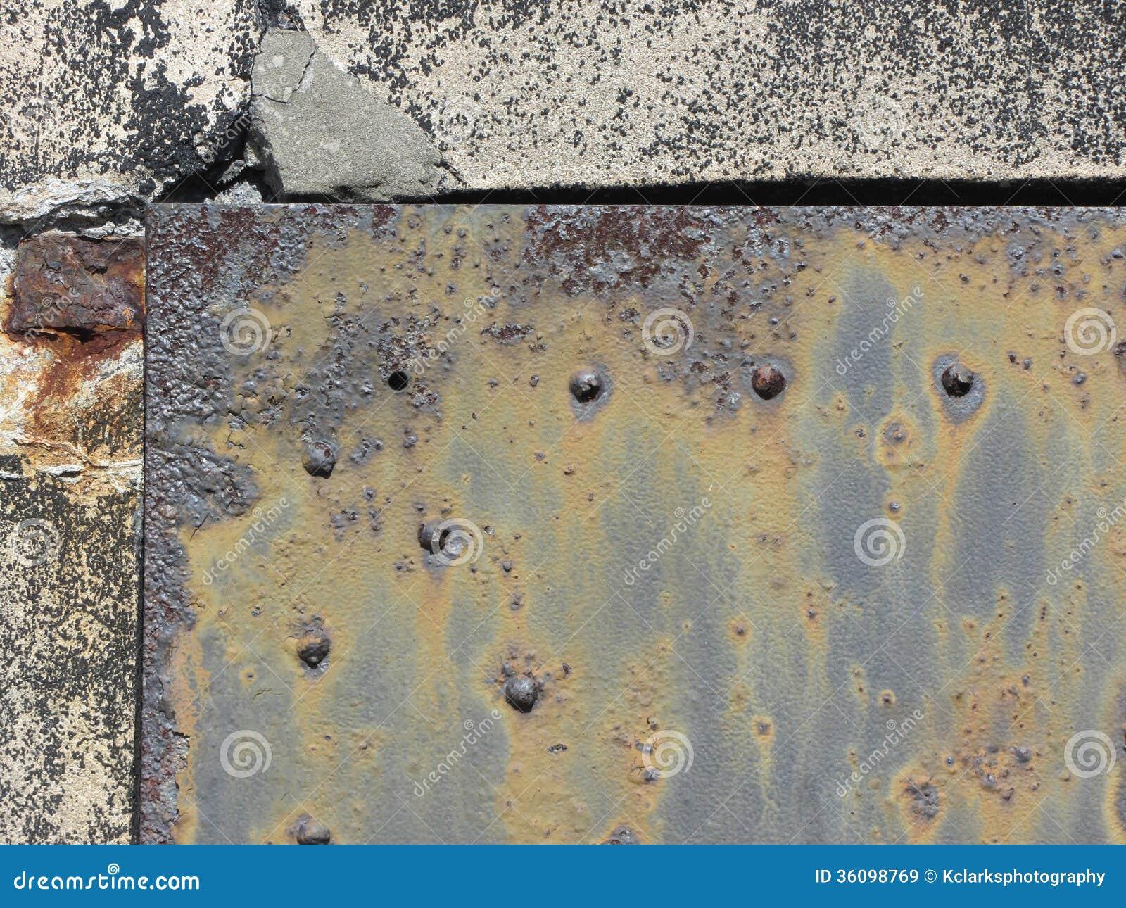 Rusty Metal Door rusty antique metal door texture stock photos - image: 36096793