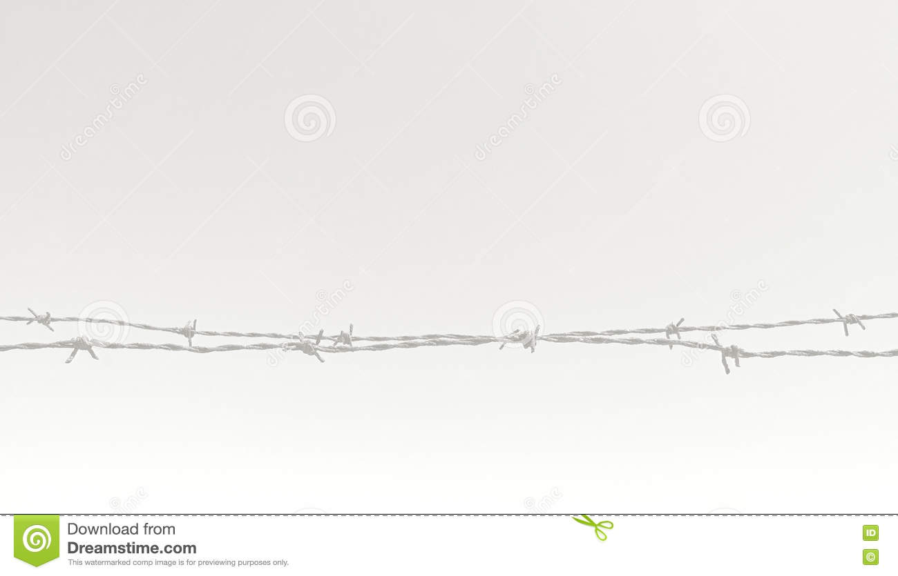 Rusty Barbed Wire Fence Closeup Stock Image - Image of conceptual ...