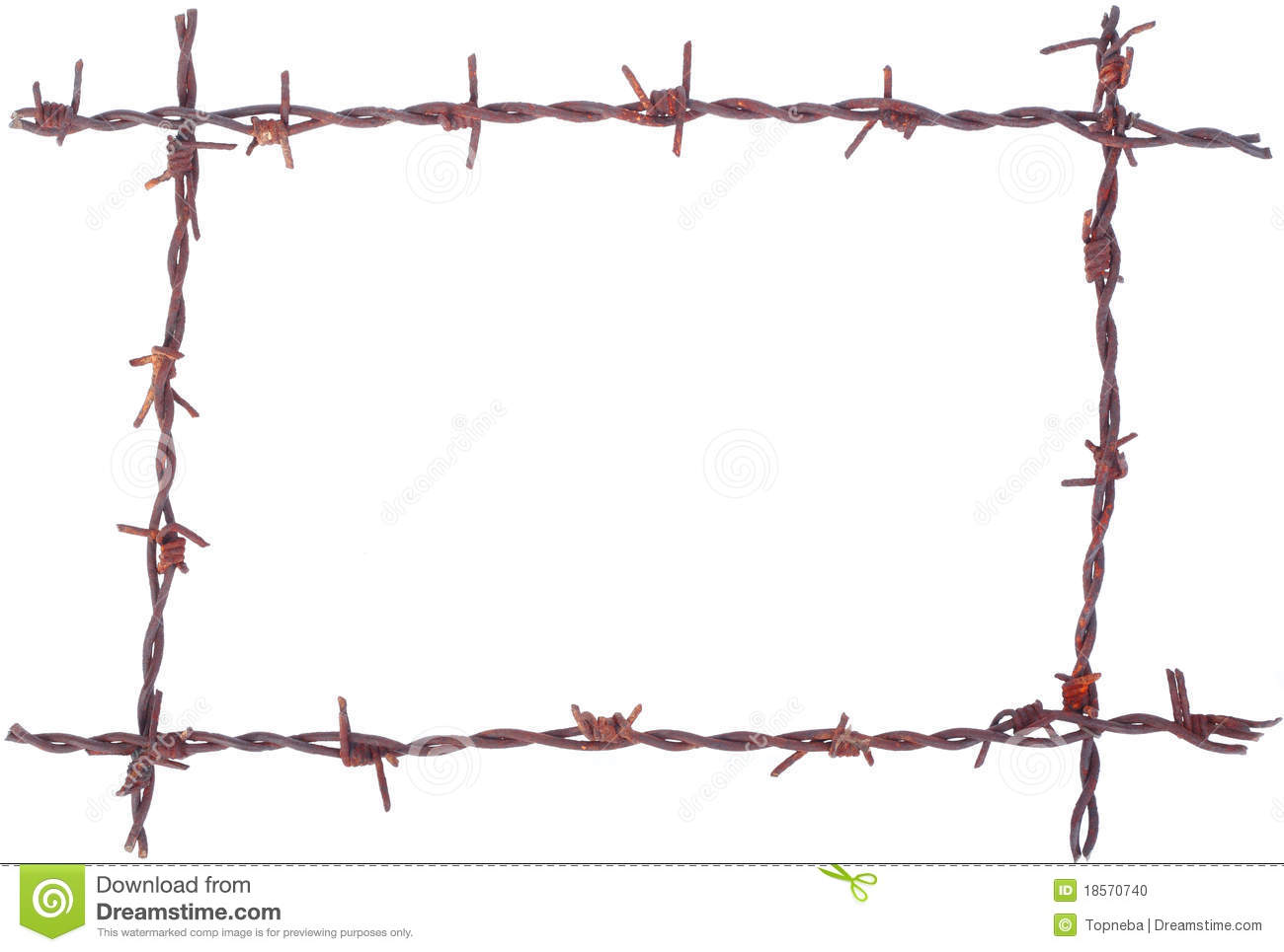 Barbed wire frame stock illustration. Illustration of barbwire - 632057