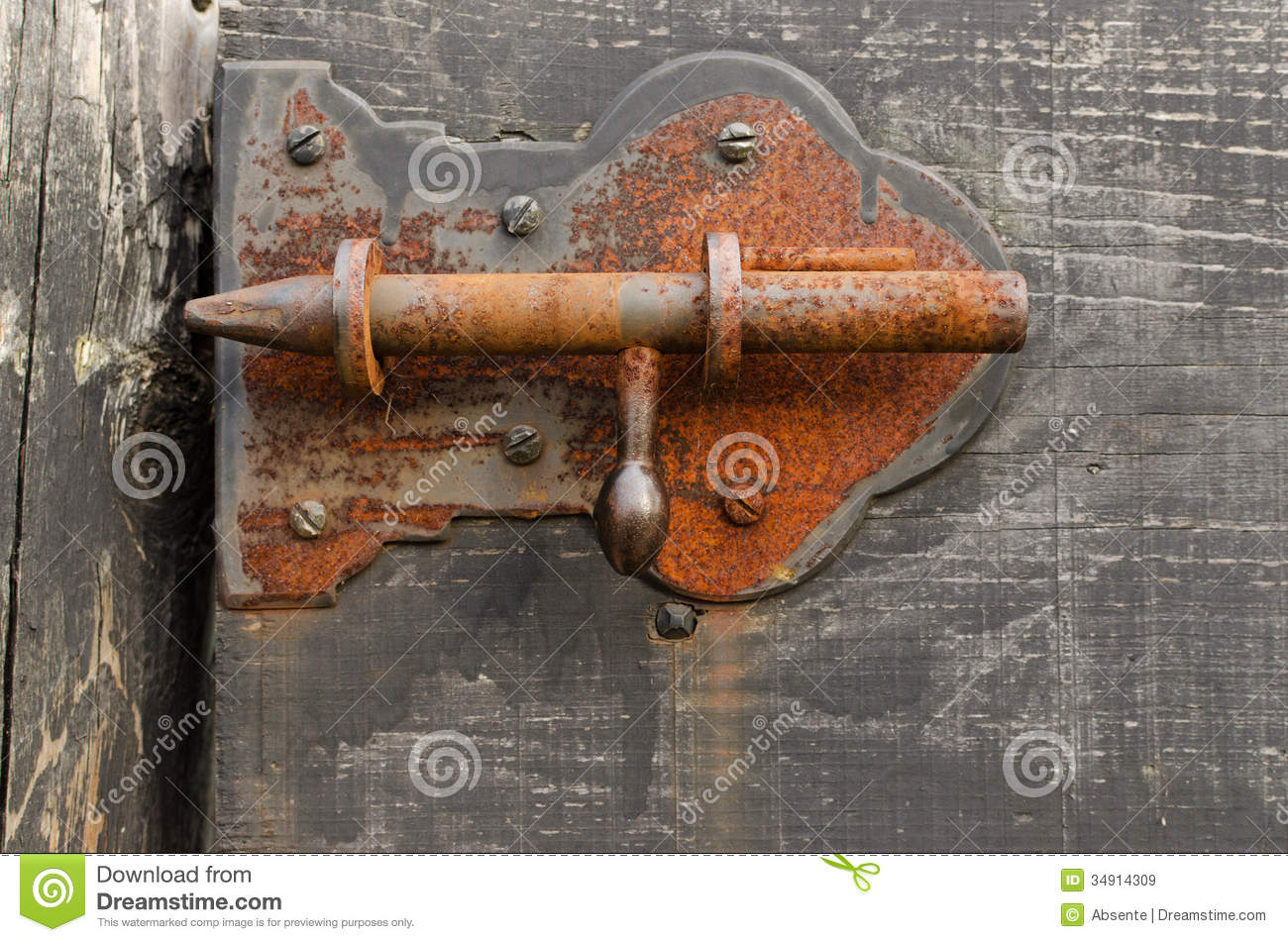 Rusty Barn Latch Royalty Free Stock Images Image 34914309