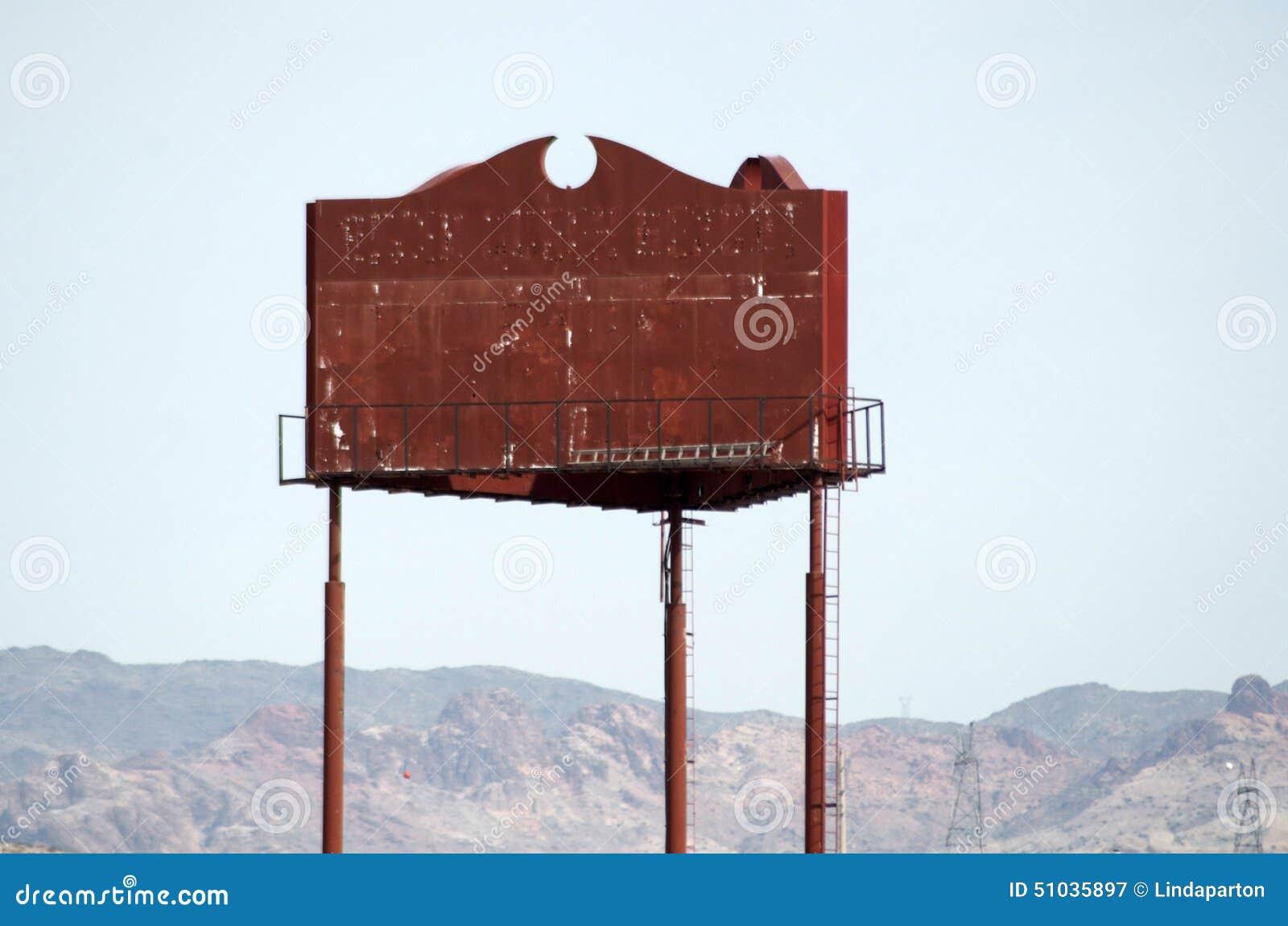 Rusty Blank Sign or Billboard