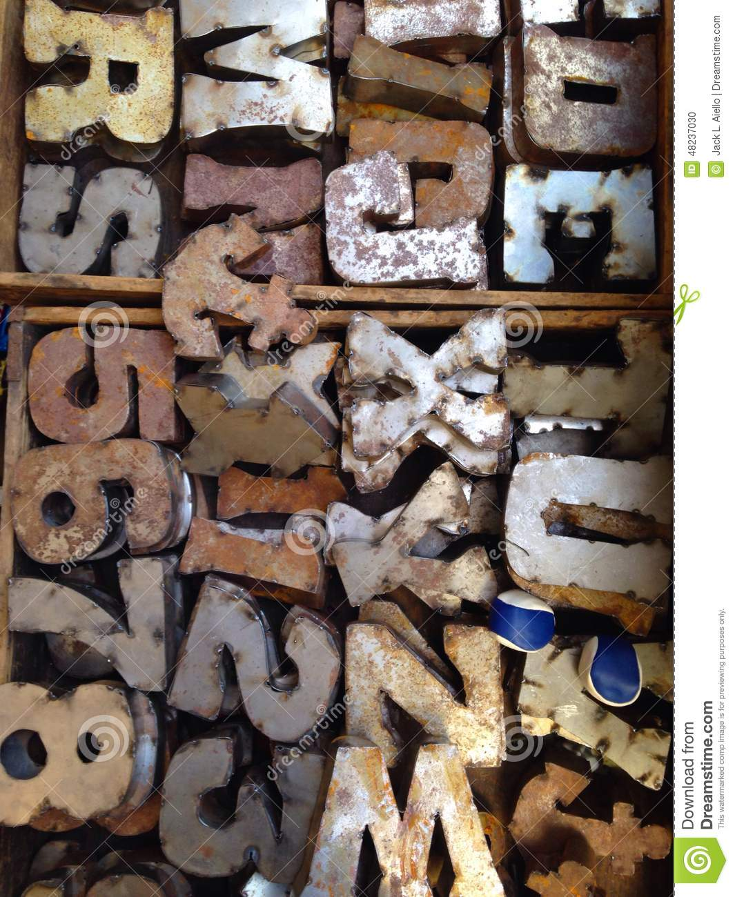 Rusty Block Letters Stock Photo Image Of Vintage Letters 48237030
