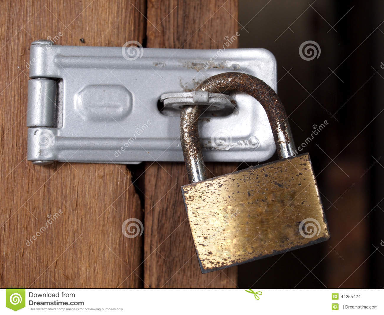 Rusty Lock and Hinge stock photo. Image of peel, secure - 179880