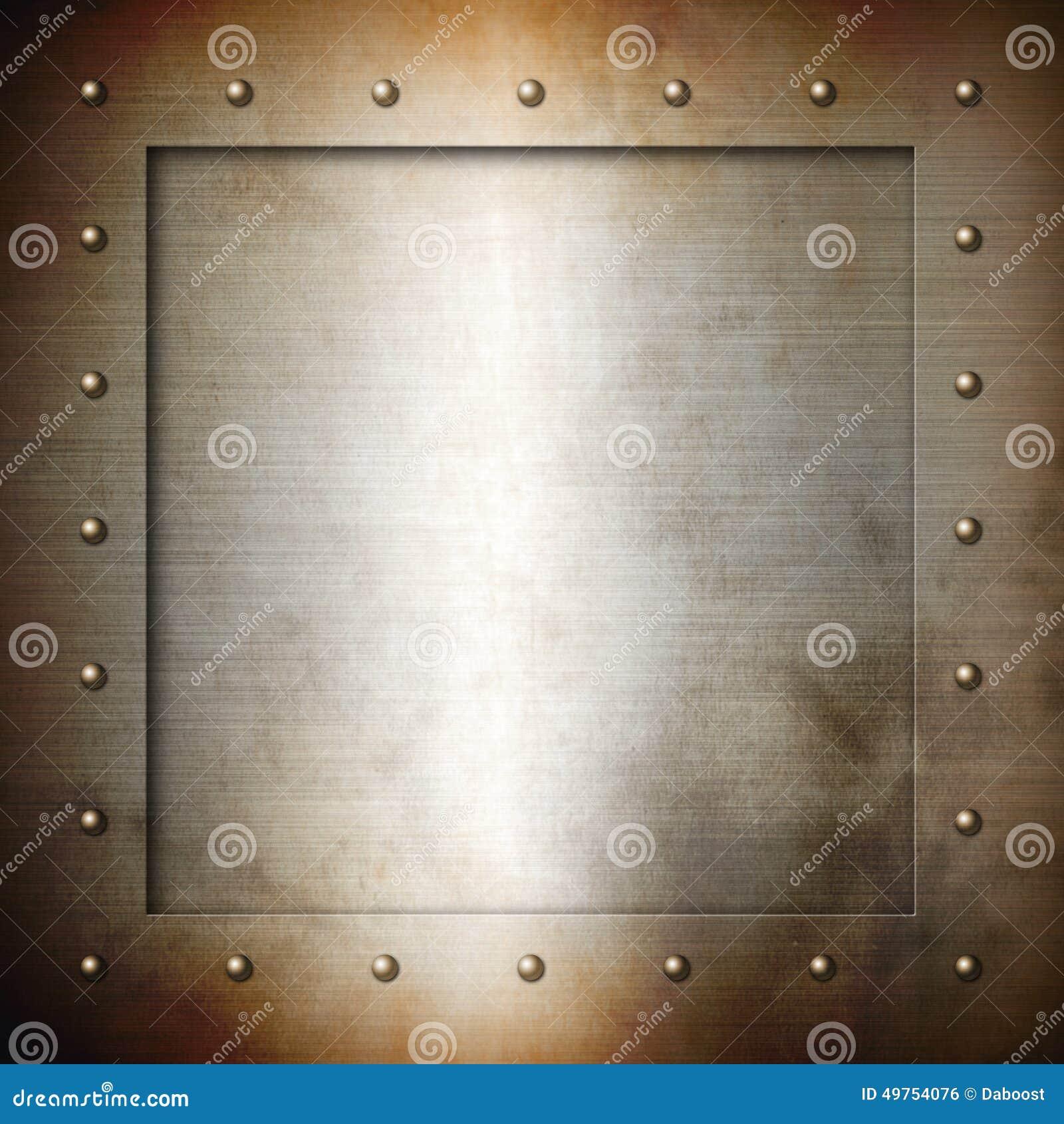 Rusty brushed Steel frame stock illustration. Illustration of ...