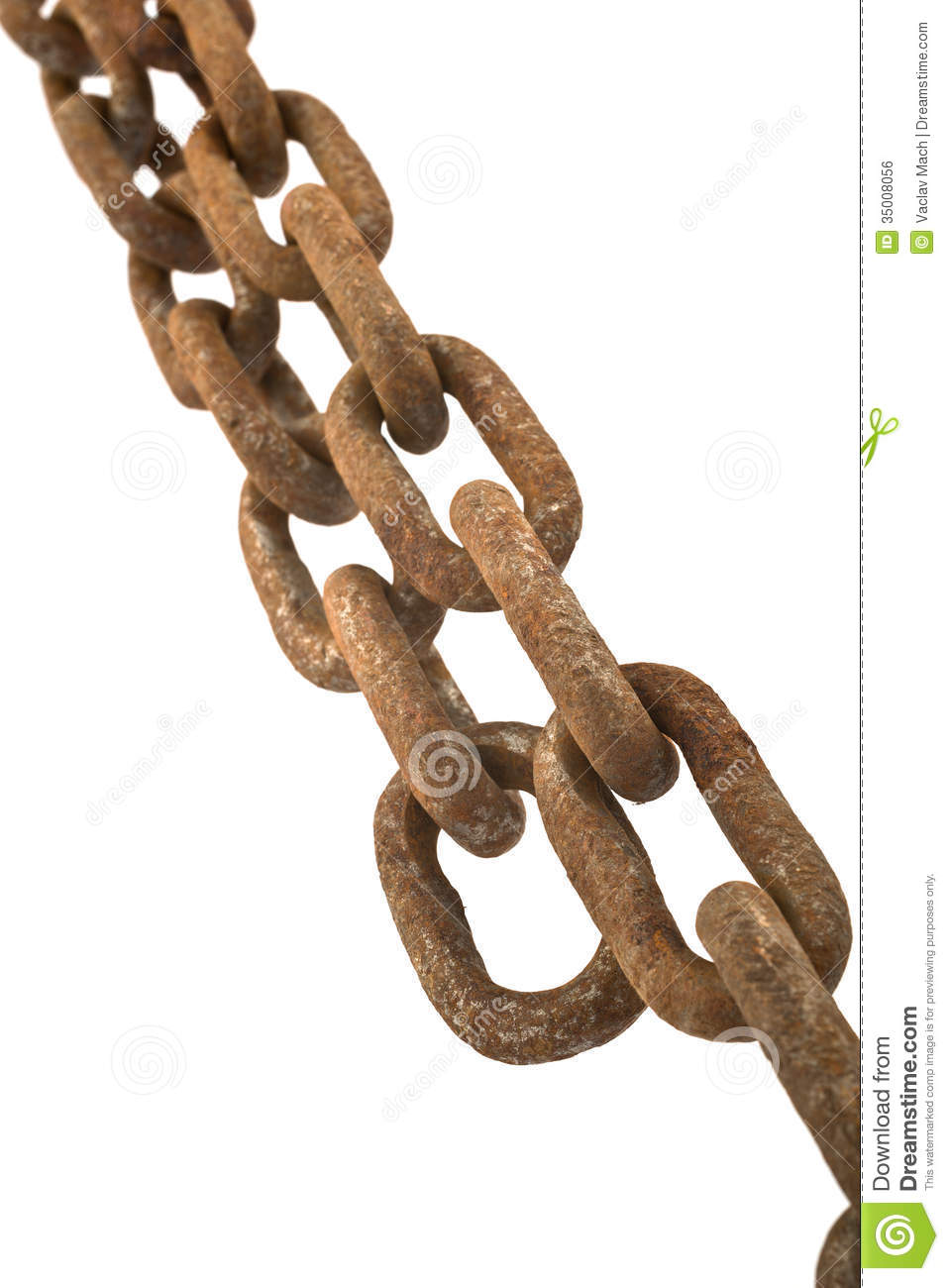 Rusty Chain Isolated Royalty Free Stock Image - Image ...