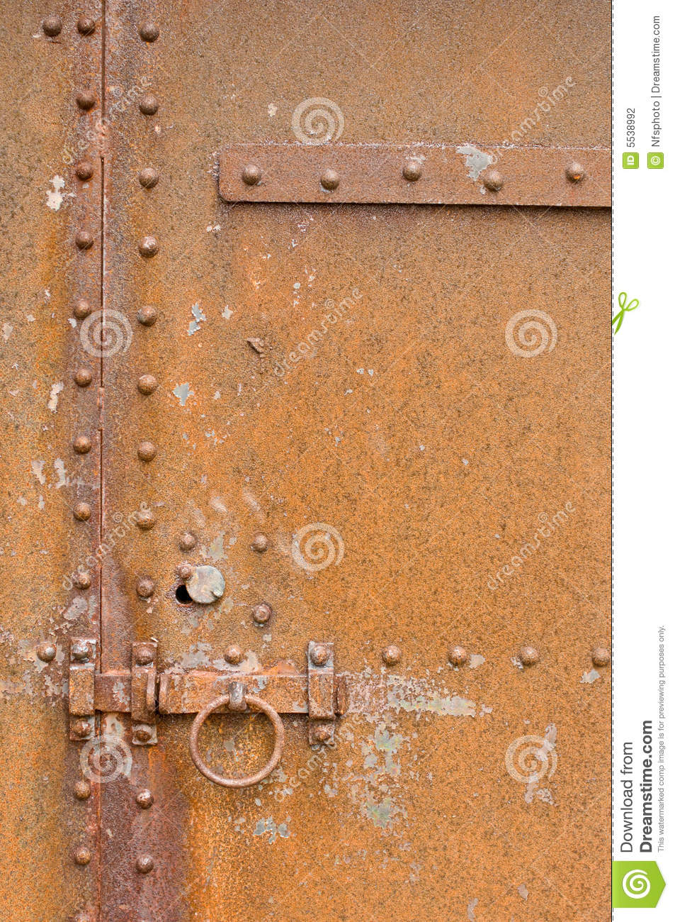 Rusty Corroded Old Metal Door Latch And Bolts Stock