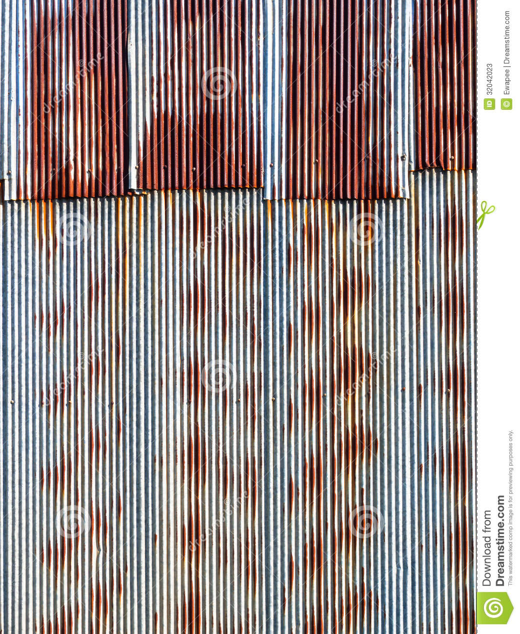Rusted Tin Walls : Rusty corrugated metal background stock image