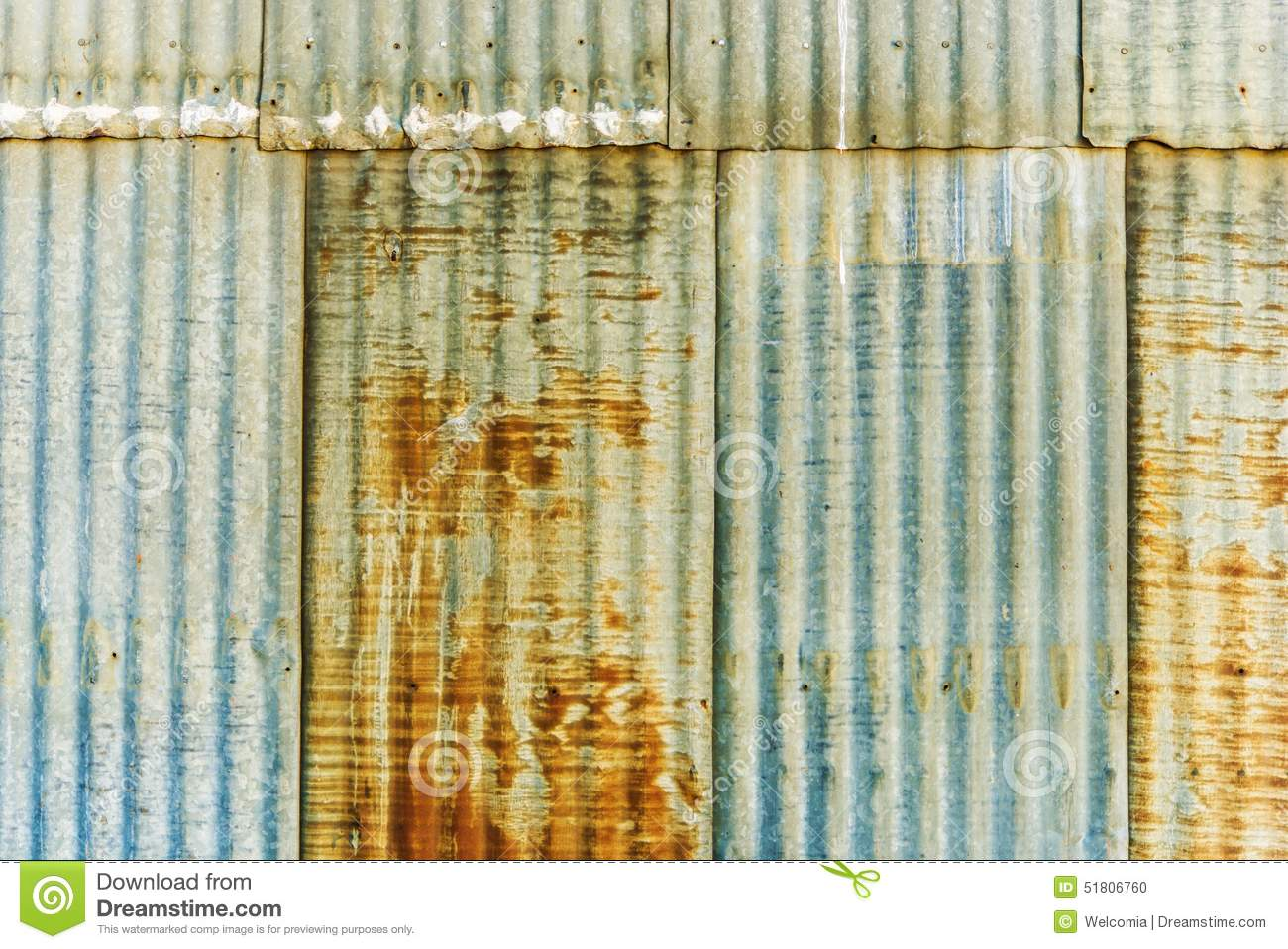 Rusty Corrugated Panels