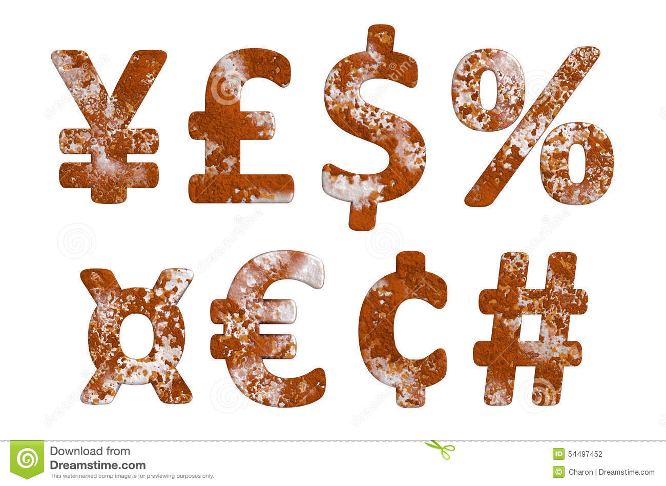 Rust currency money numeral sign stock photo illustration of rust currency money numeral sign buycottarizona Choice Image