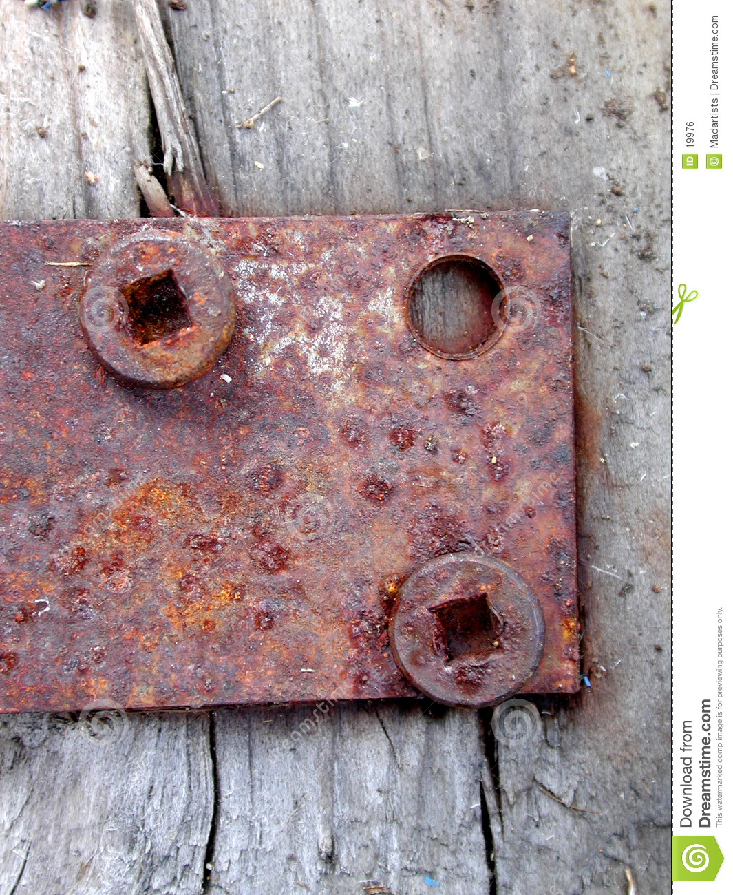 Rusty Door Hinge Screws Wood
