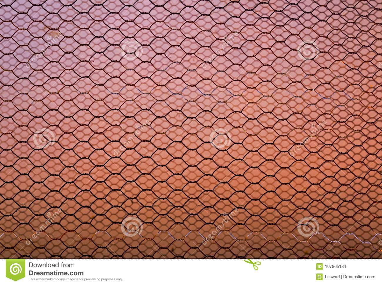 Rusty Double Layer Hexagonal Wire Mesh Background Stock Photo ...