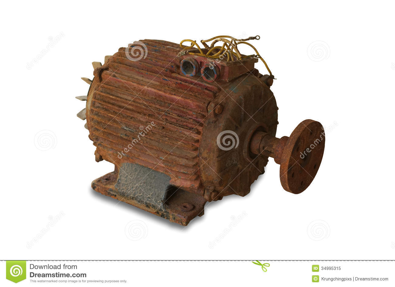 Rusty electric motor