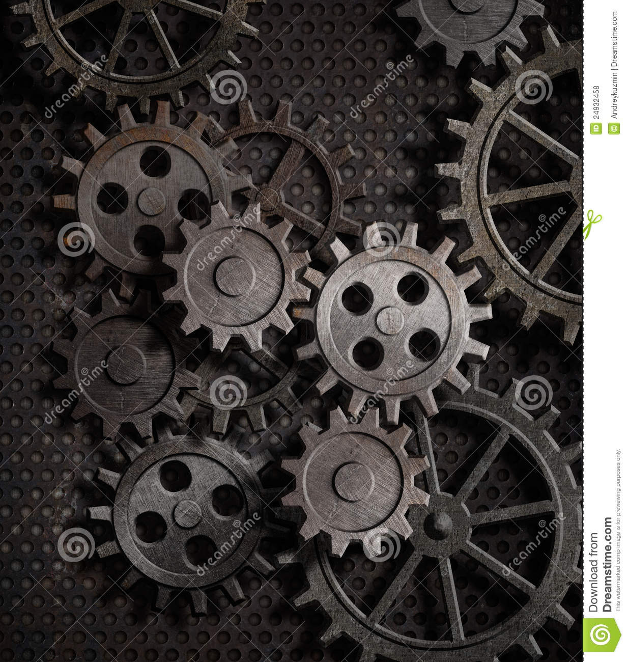 Rusty Gears And Cogs Metal Background Royalty Free Stock