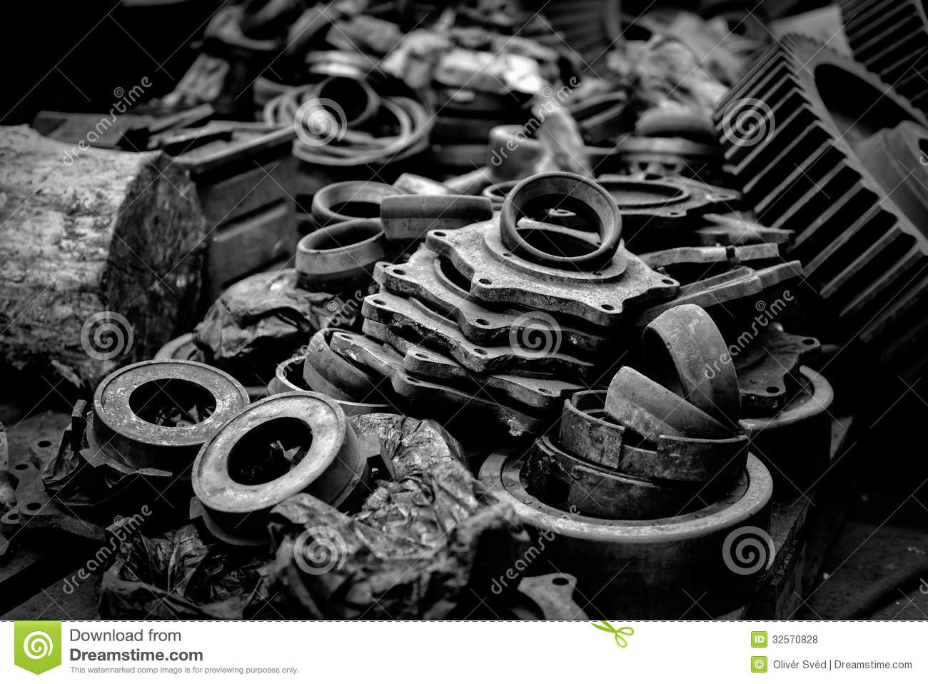 Pic Of Machinery Components : Rusty industrial machine parts stock photo image of